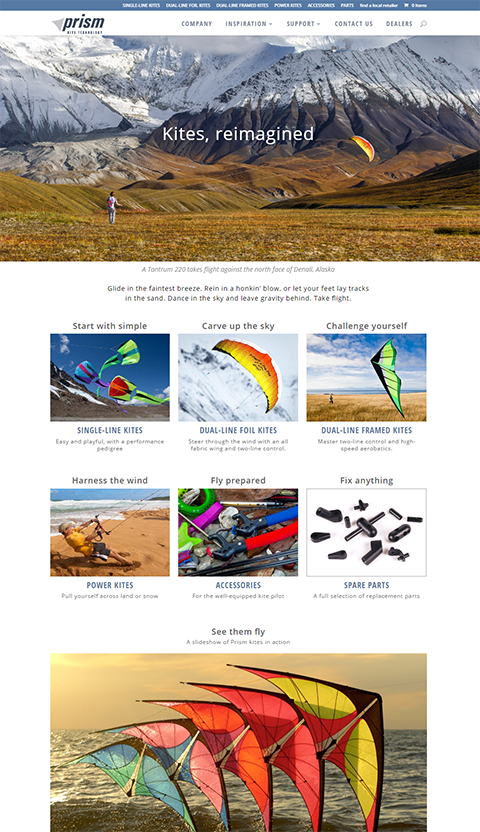 Image of Prism Kites Technology Home Page